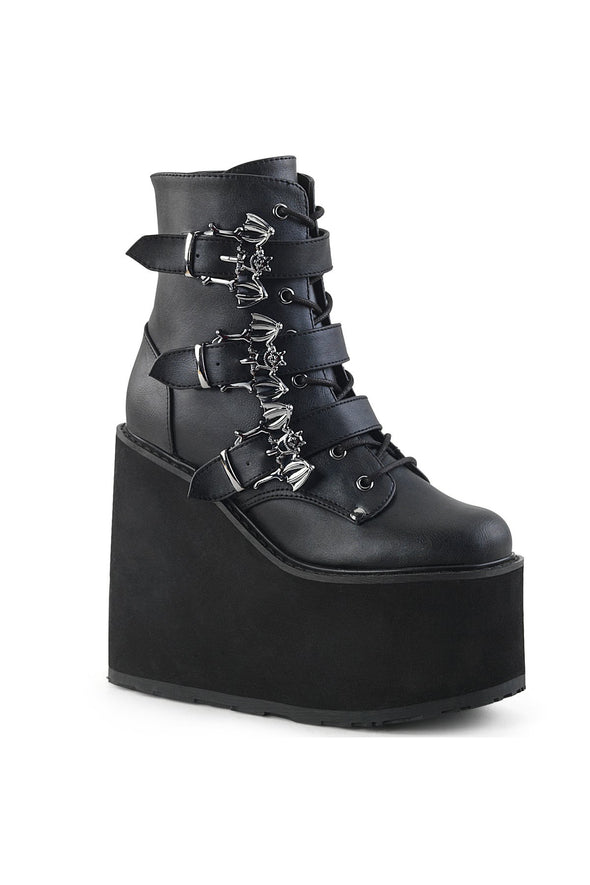 Cauldron of Bats SWING-103 Boots [Black Vegan Leather]