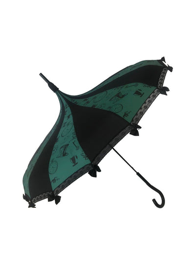 Hilarys Vanity Tea Party Umbrella (Black/Green)