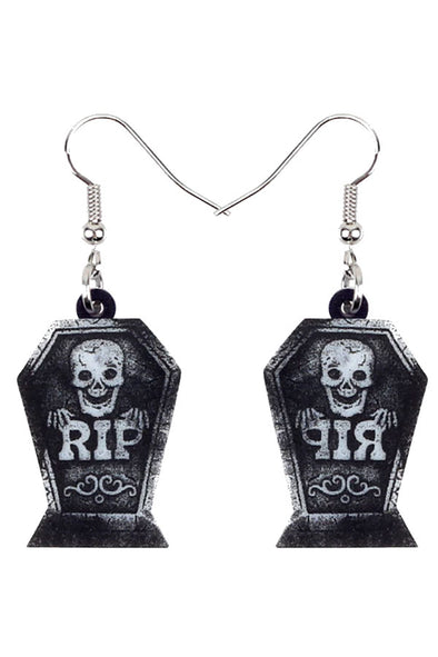 Tombstone RIP Earrings - Vampirefreaks Store