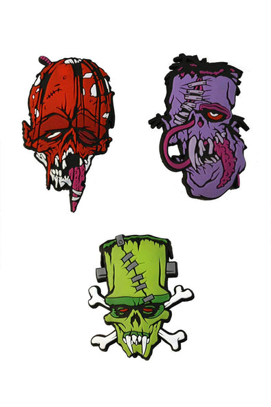 Toxic Toons Monster Heads 3-Pin / Badge Set - Vampirefreaks Store