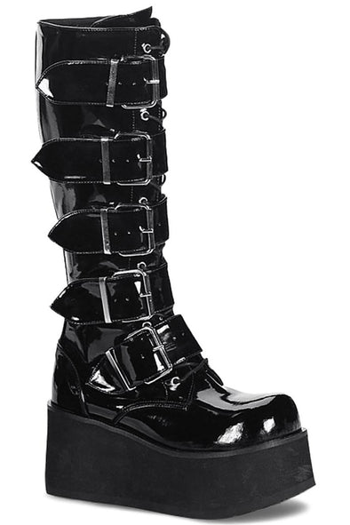 Welcome to TRASHVILLE-518 Boots [Black Patent]