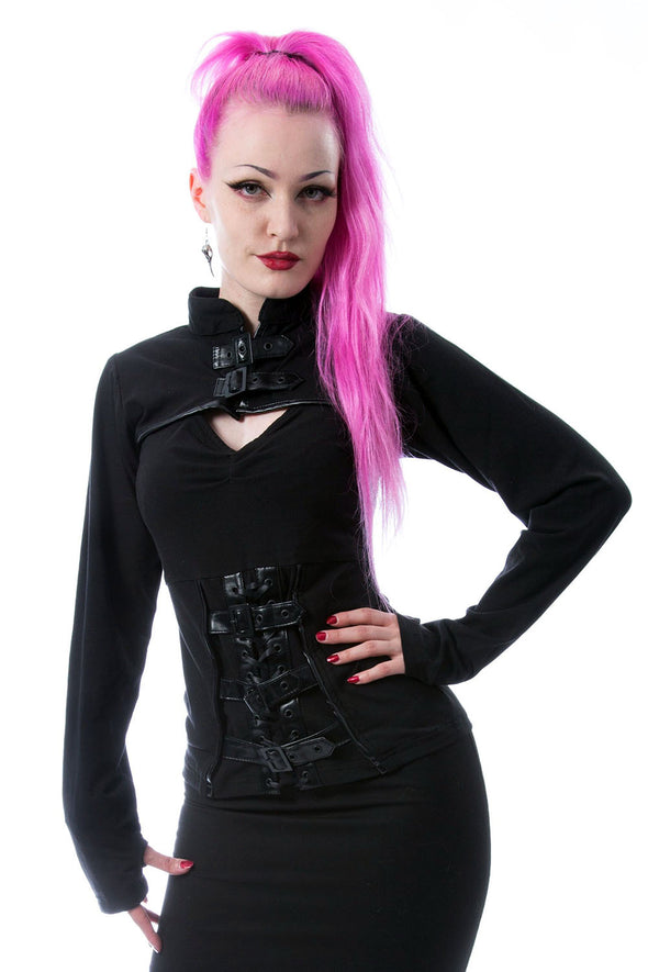womens goth corset top
