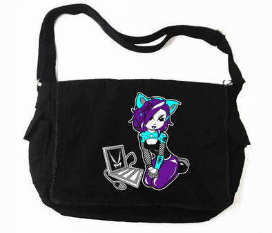 VampireFreaks Cyber Kitty Messenger Bag - Vampirefreaks Store