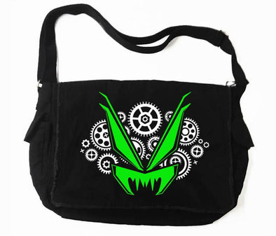 VampireFreaks Gears Logo Messenger Bag (Green)