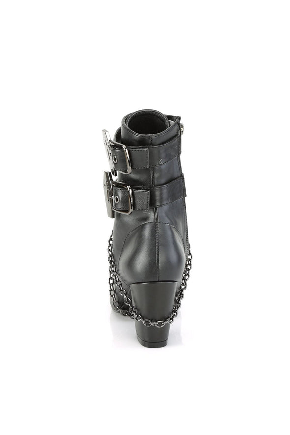 Coffin Creature VIVIKA-128 Boots [Black Vegan Leather]