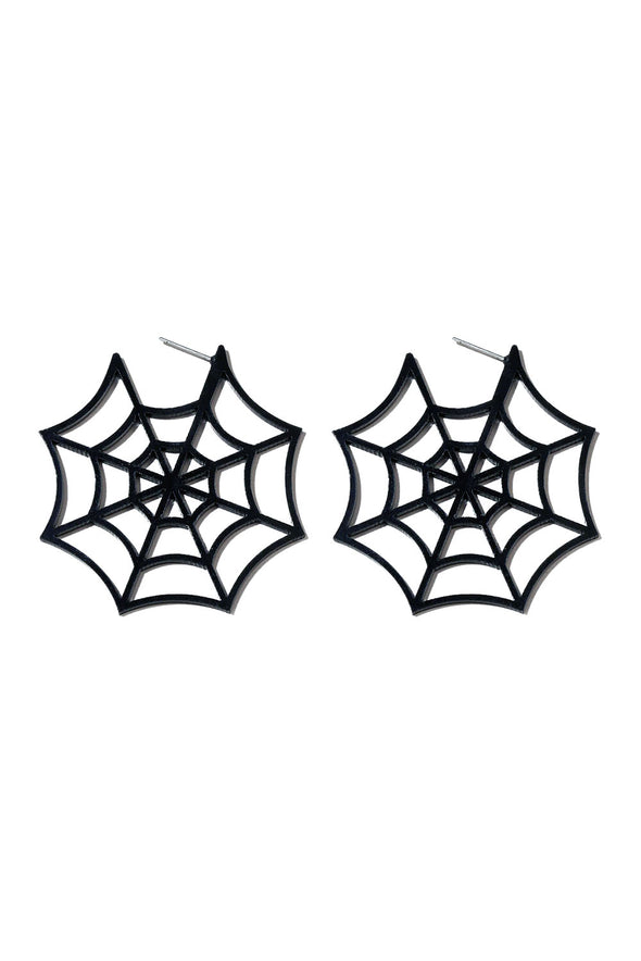 Caught in Your Web Earrings