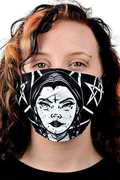 Wednesday Addams Occult Face Mask