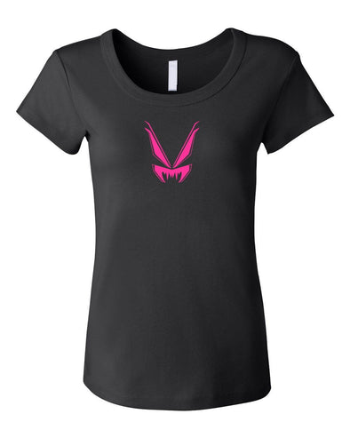 VampireFreaks Pink Logo Womens Scoop Neck T-Shirt - Vampirefreaks Store