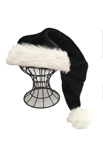 Black Gothic Christmas Hat