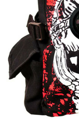 punk goth skull backpack with speakers