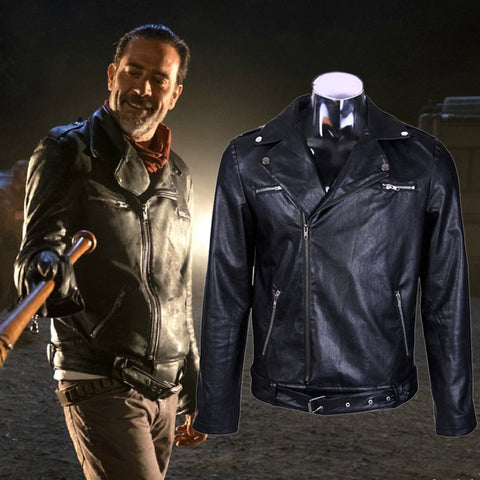 Veste en cuir noir Negan The Walking Dead