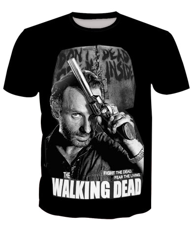 The walking dead  T-shirts Rick Grimes fashion