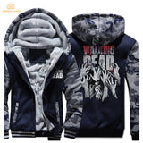 TV Show The Walking Dead Hip Hop Mens Hoodies 2017 Hot Winter Warm Fleece Plus Size Sweatshirts Men Casual Thicken Men's Jackets