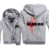 The Walking Dead Season 7 Zombie Skull Hoodies Sweatshirt Men Unisex Outerwear Casual Male Jackets Hoody Cloak Shawl Warm