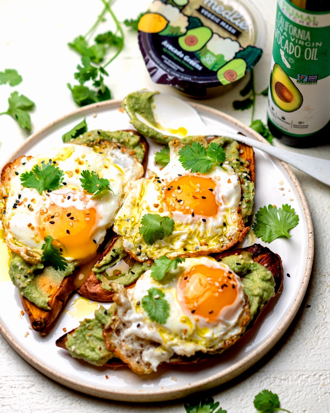 Whole30 Friendly Sweet Potato Toast with Egg