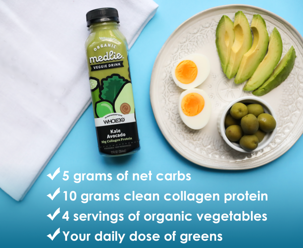 Kale Avocado with Collagen Keto Medlie Drink