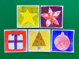 Create Seasons Greetings Cards with the New Gelli Arts® Card Printing Kit
