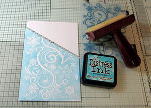 Using the Flourishing Flakes embossing Folder & Festive Flake Metal Die..