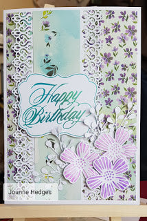 Happy Birthday Card with Joanne Featuring - Le Petit Jardin Collection