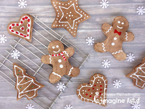 Imagine - Make Gingerbread Ornaments with Clay and Memento Ink