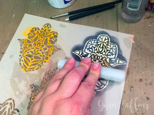 Gwen's Gems - Using Stencils for Beaded Mosaics