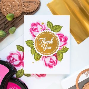 Spellbinders - Glimmer Hot Foil System - Stamping & Hot Foil Easy Thank Your Cards