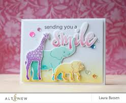 Altenew Baby Zoo Stamp and Die Bundle