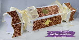 Make your own Christmas Crackers Using Crafters Companion Festive Fancies Embossing Board