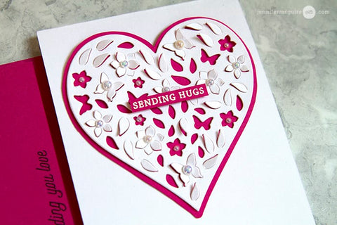 Hero Arts - Paper Layering Dies Floral Heart With Frame