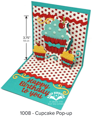 Karen Burniston - Cupcake Pop-Up Die Set 1008
