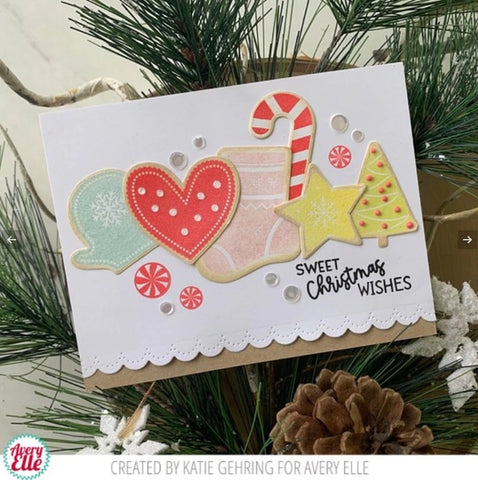 Avery Elle - Christmas Cookies Clear Stamps