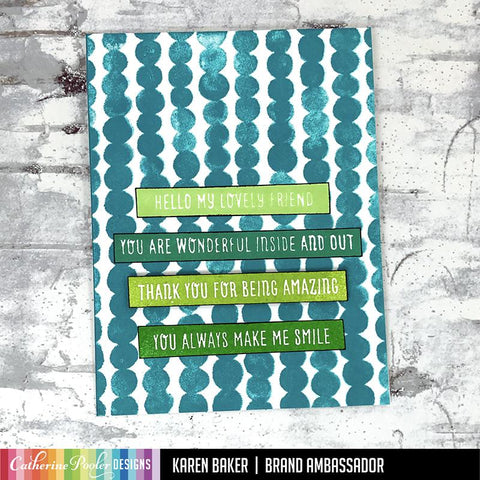 Catherine Pooler - Magnetic Messages Stamp Set