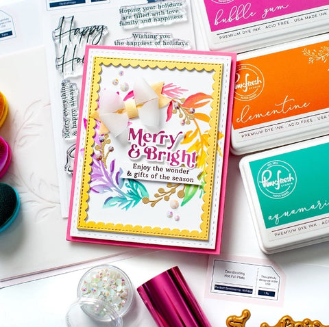 PinkFresh Studio - Perfect Sentiments: Holiday Hot Foil Plate