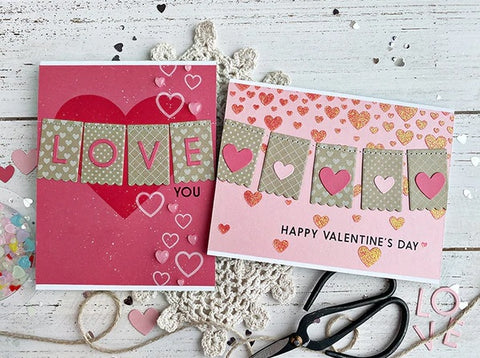 Taylored Expressions - Banner Year - Love - Stamp & Die Combo