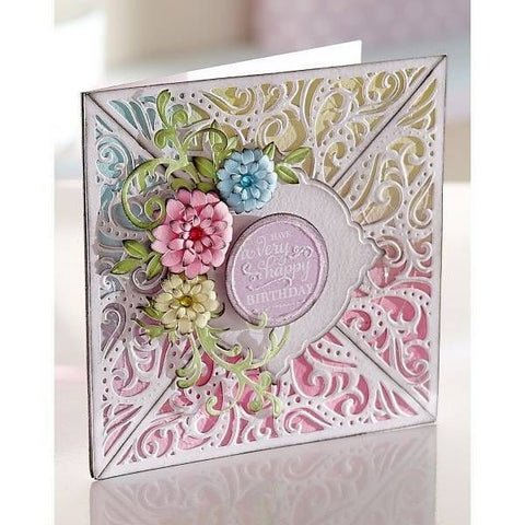 Crafters Companion - Die'sire Create-a-Card Metal Die - Bordeaux