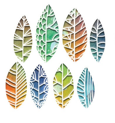 Sizzix - Thinlits Die Set 8PK - Cut Out Leaves by Tim Holt