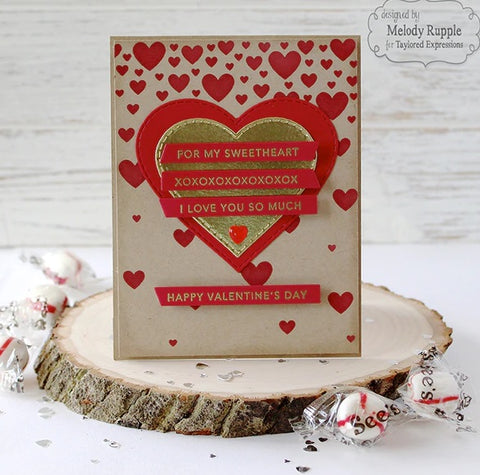 Taylored Expressions - Mini Strips - Valentine -  Stamps