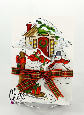 Christmas Scene TryFolds Cards