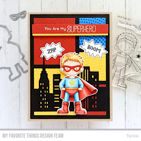 My Favorite Things - BB Super Boy Stamps and Die-namics