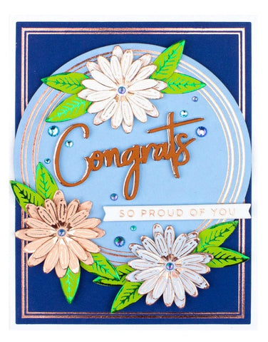 Spellbinders - Glimmer Daisy Glimmer Hot Foil Plate & Die Set from Expressions of Spring Collection