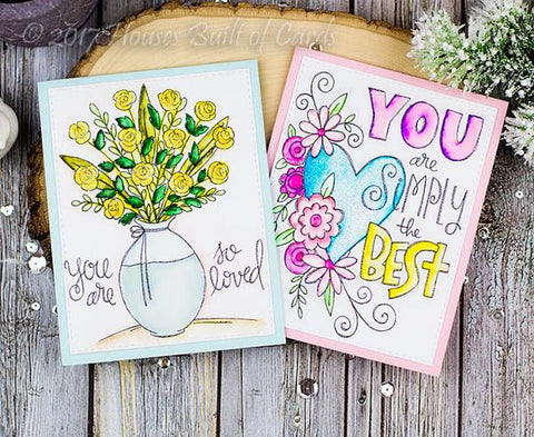 Simon Says Stamp SUZY'S TAKE MY HEART WATERCOLOR DOODLES Prints