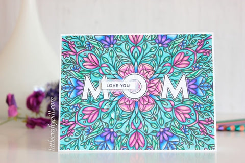 Simon Says Stamp - Flora Background Stamp Mothers Fathers Florals