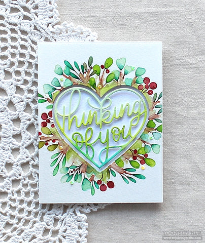 Simon Says Stamp - Thinking of You Heart Wafer Dies
