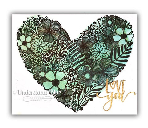 Simon Says Clear Stamps Floral Heart
