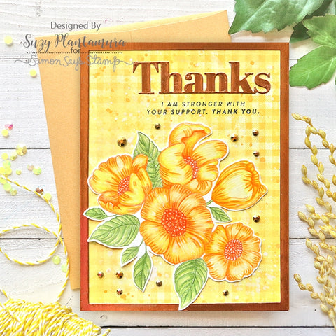 Simon Says Stamp - Thankful Flowers Stamp and Die
