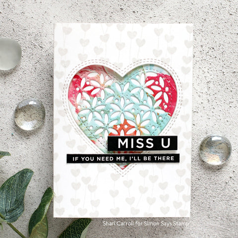 Simon Says Clear Stamps Heart Garland Background
