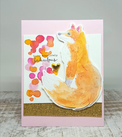 Hero Arts - Paper Layering Dies Fox With Frame