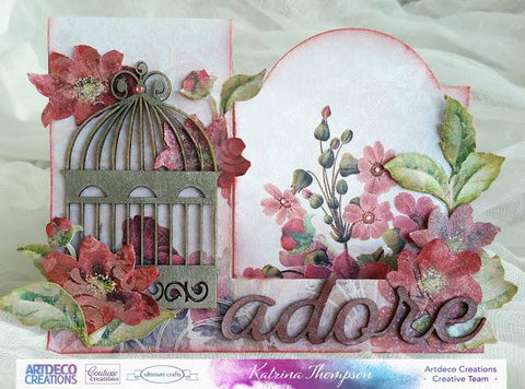 Couture Creation - Chipboard - My Secret Love - Butterfly Cage Set (5pc)
