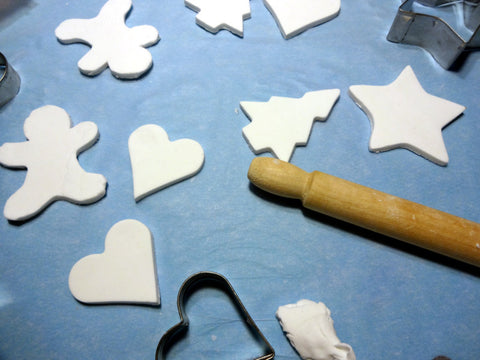 Make Gingerbread Ornaments with Clay and Memento Ink