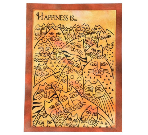 "Imagine Crafts - Learn To Make This ""Happiness Is.."" Cats - Handmade Card"